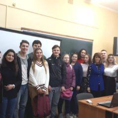 Участники конференции – студенты 1 – 3 курсов  с преподавателями Бобриковой М.А. и Даниловой Е.А.