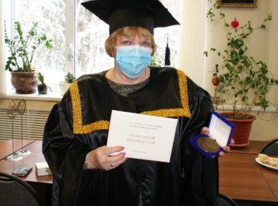 Поздравление Нины Александровны Головиной с присвоением звания «Почетный профессор АГТУ»